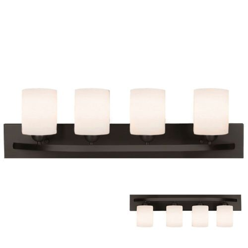 Oil Rubbed Bronze 4 Light Bath Vanity Light Bar Fixture Bathroom ...