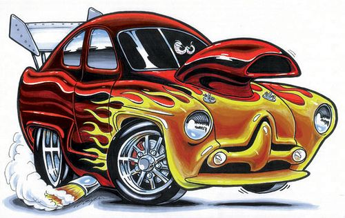Funny Cartoon Car With Images Car Cartoon Automotive Artwork