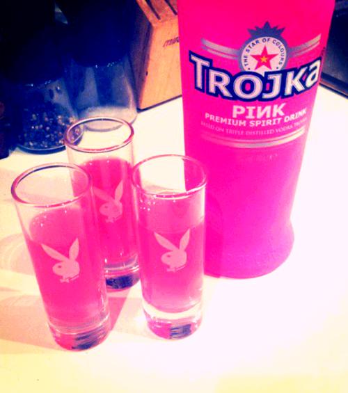 Hot Pink Vodka ~ I wonder if the pinkness makes it taste any better...js  ♡♥♡♥♡♥ #pink #vodka #drinks #tumblr