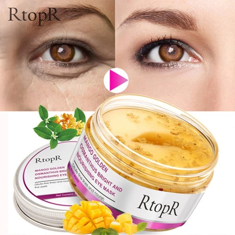 Eye Mask Mango Golden And Nourishing Skin Care Anti- Dark Circle Anti-Aging Treatment Mask #darkcircle