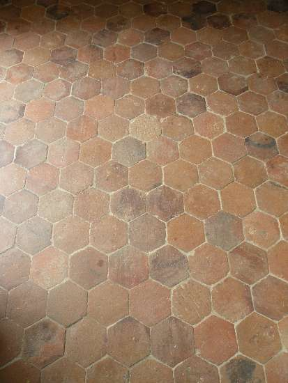 Hexagonal Antique Terracotta Floor Tiles Lacole Casa Italiana Srl More