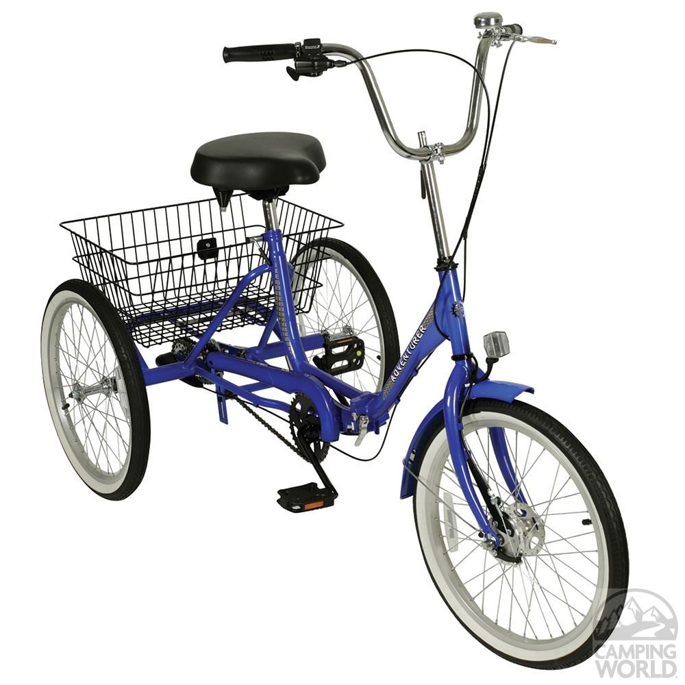 Adventurer 3 Sd Folding Trike Blue Direcsource Ltd 100572 Bikes Camping World