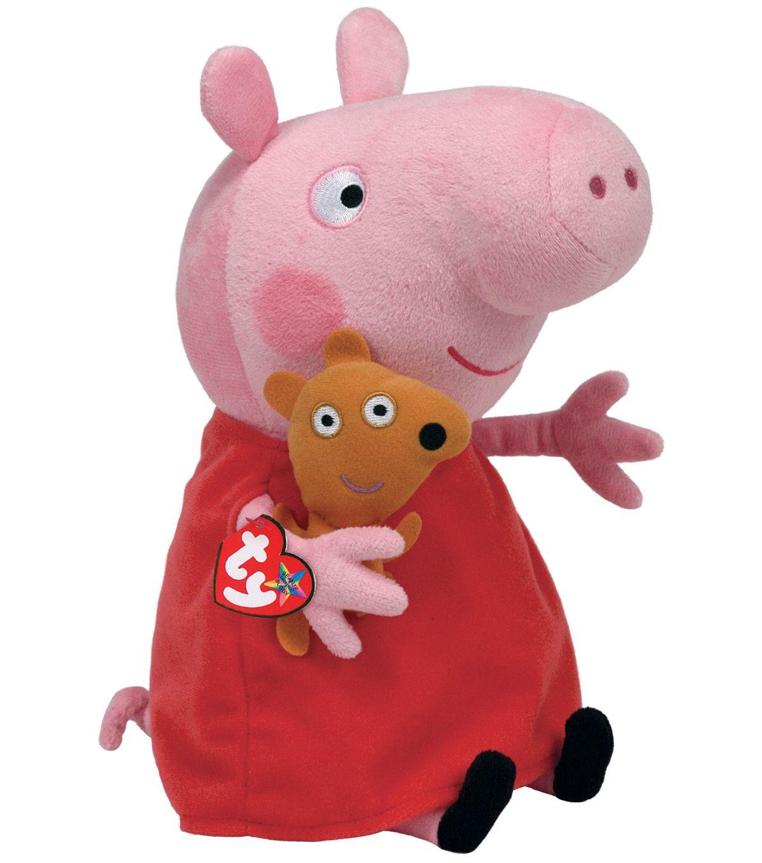 Ty Peppa The Pig Medium Plush Joann Jo Ann Pig Plush Peppa Pig Plush Peppa Pig Soft Toy [ 1360 x 1200 Pixel ]