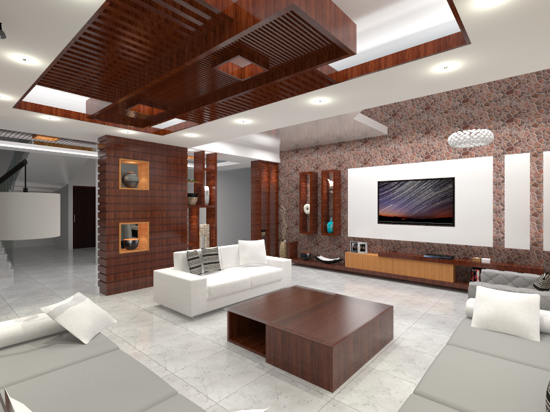 Living Room Interior Design 3d Modeling And Rendering By Sketchup
