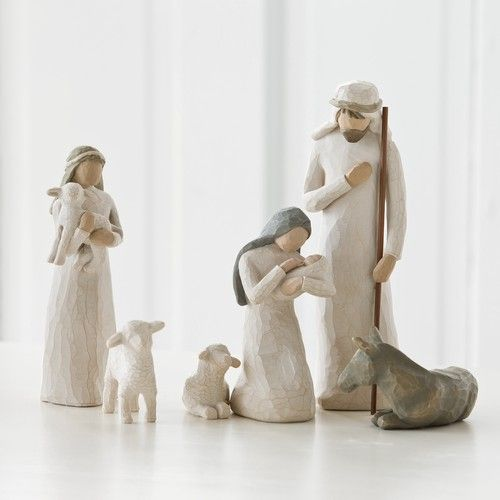 Nativity by Susan Lordi Willow Tree set of six Holy Family 26005