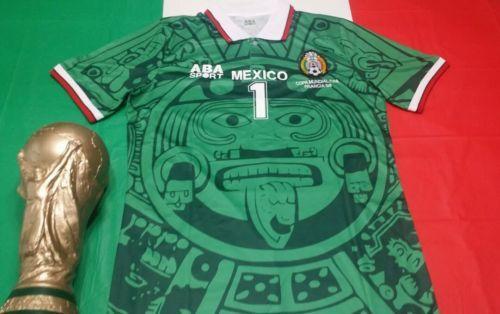 490b0388a ABA Sport Mexico 1998 Jorge Campos #1 Green Retro Jersey Size XL Mexico  World Cup