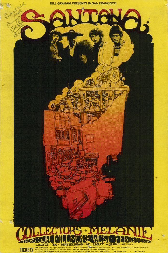 Santana      fillmore west 1969   Music Posters in 2019