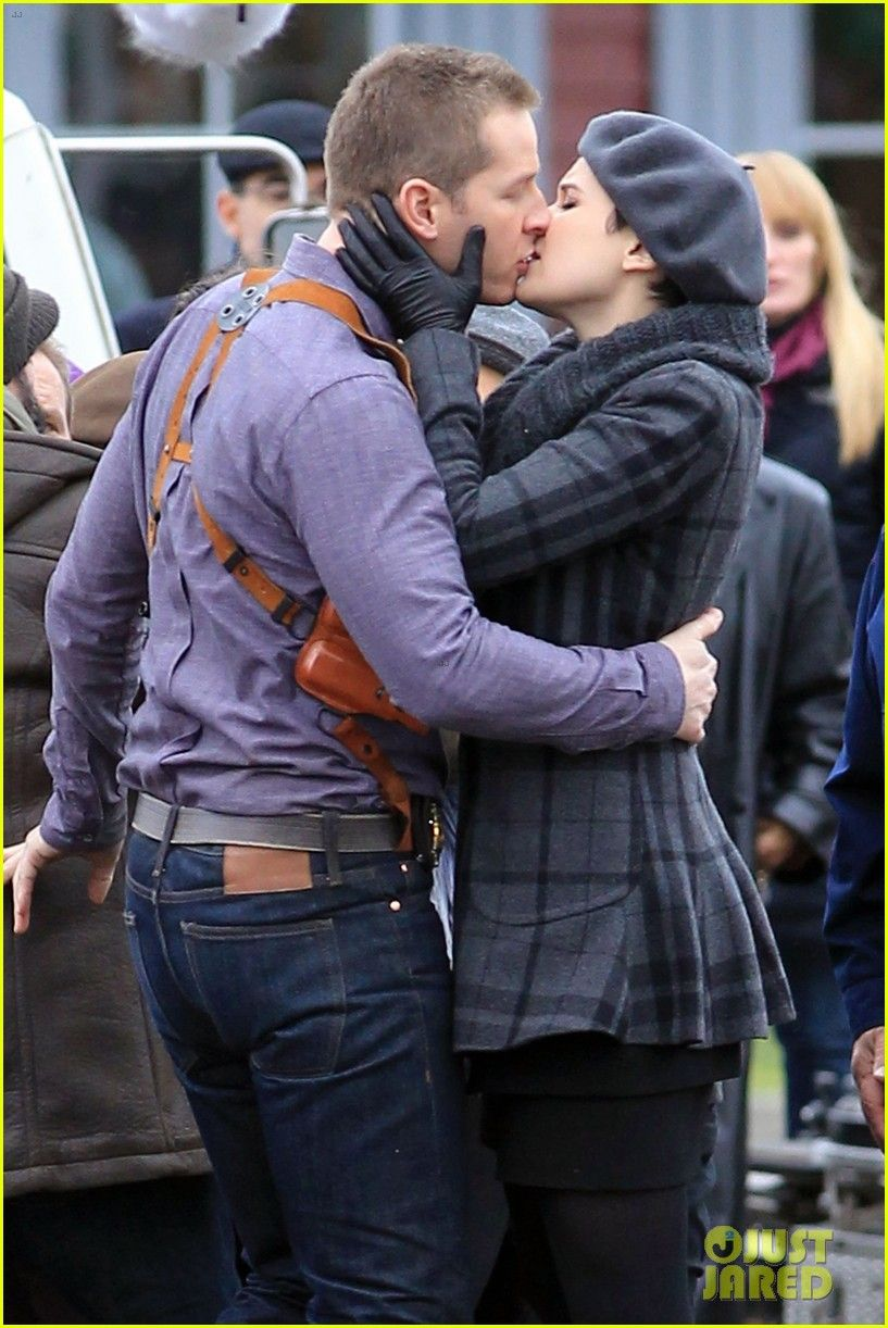 Ginnifer Goodwin And Josh Dallas Embrace For A Passionate Kiss On