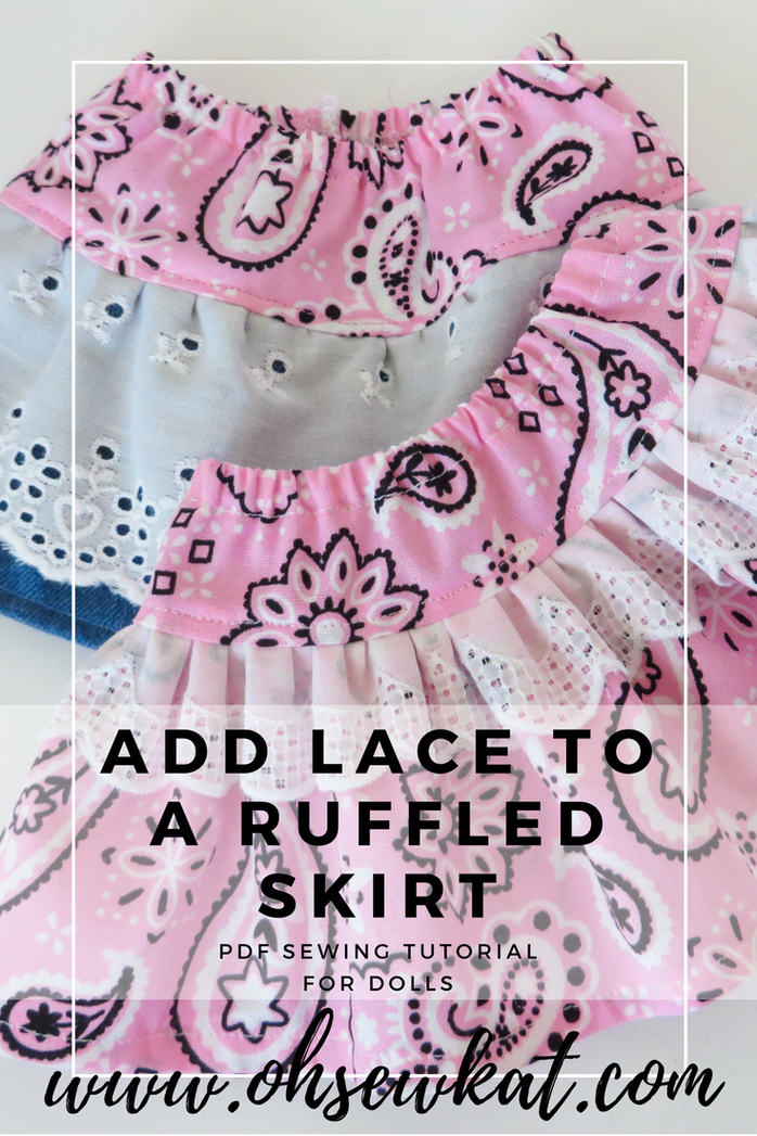 Lace ruffle dress tutorial