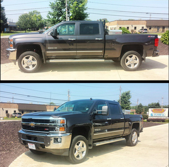 Just Wrapped Up A Rough Country Leveling Kit On This 2014 Chevrolet