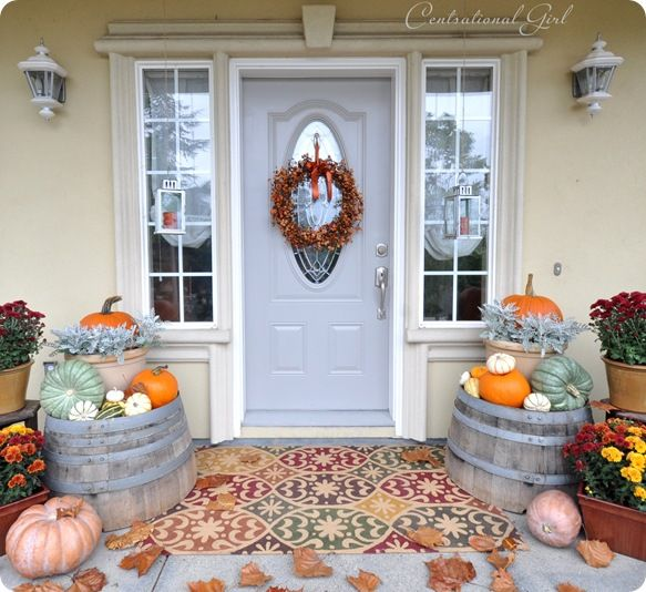 Harvest Porch. Fall Outdoor DecoratingHalloween Decorating IdeasPorch ...