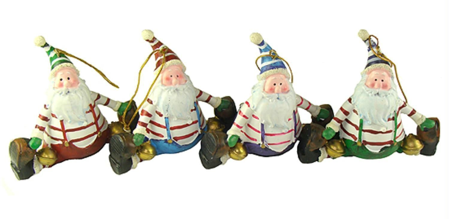 Club Pack Of 72 Santa Claus Doing A Split Christmas Ornaments 4""