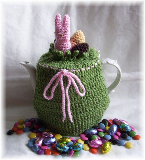 Easter Tea Pot CozyPDF Crochet Pattern by KTBdesigns on Etsy, $5.00 ...