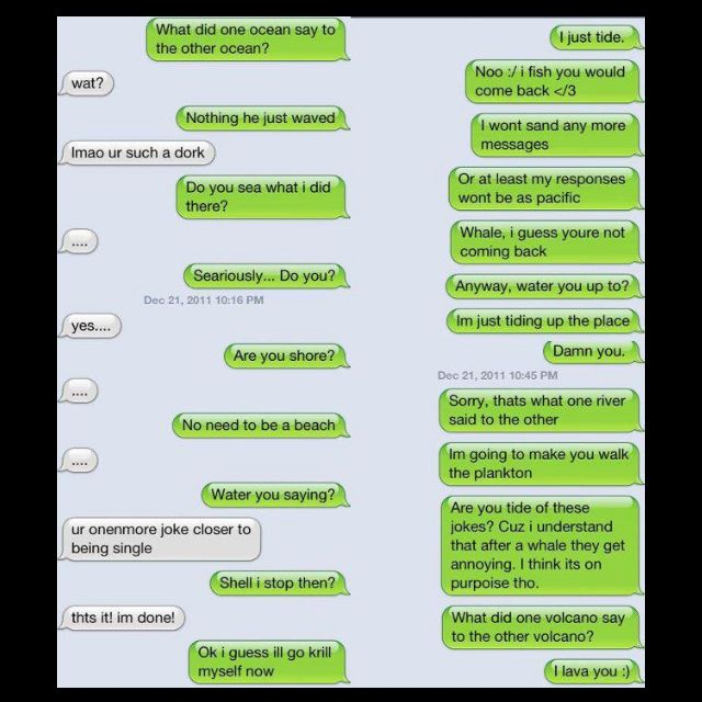LOL love corny jokes<3