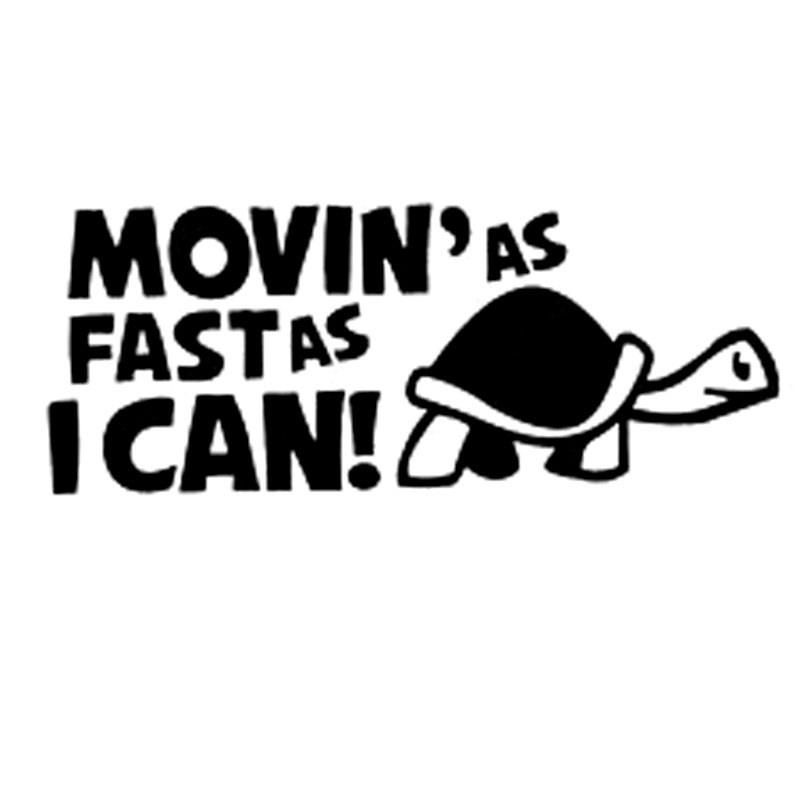 Bumper Sticker Going as fast as I can Tortoise funny Decal Graphic Vinyl Label