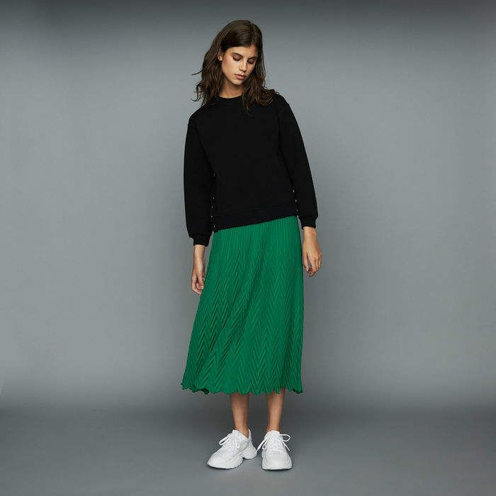 c4dc2d4d70 JISSE Long pleated chevron skirt in 2019 | Products | Skirts ...