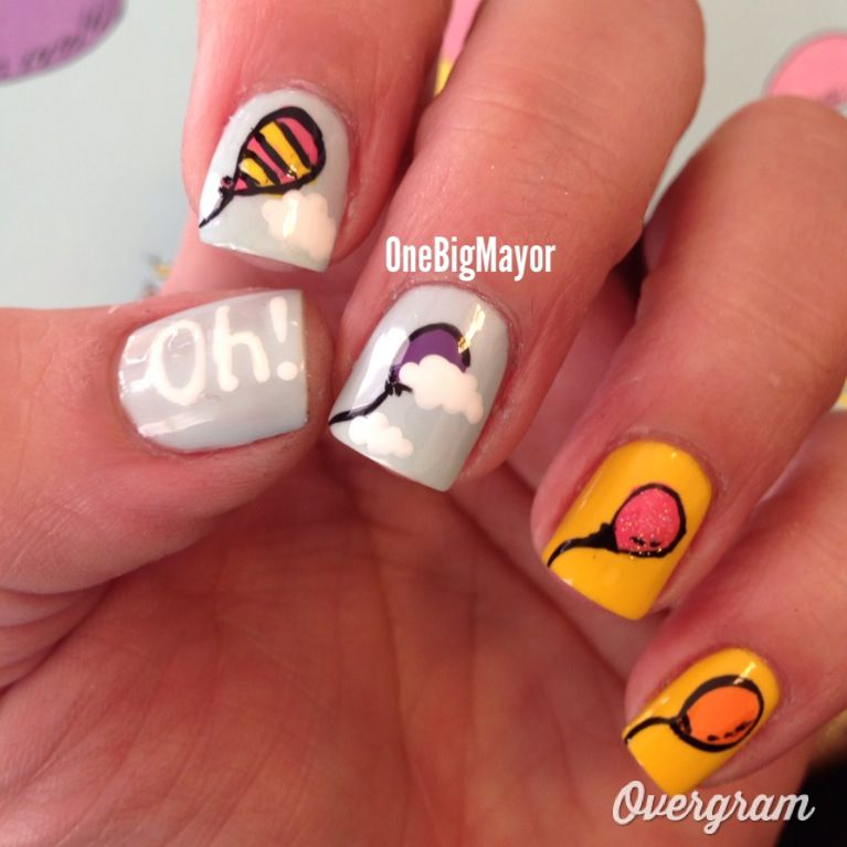 Nail Art Inspired By Oh The Places Youll Go I Love These