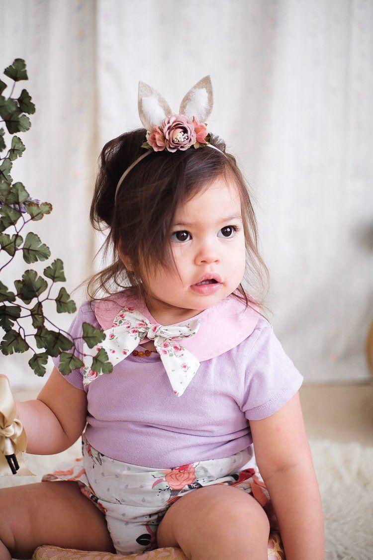Bunny Ears Headband or Hair Clip,Baby Easter Headband,Easter Bunny Headband,Baby Flower Headband,Easter Hair Bow,Bunny Hair Bow,Photo Prop