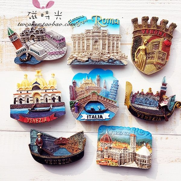 European Venice Rome Italy Tourism Scenery Refrigerator