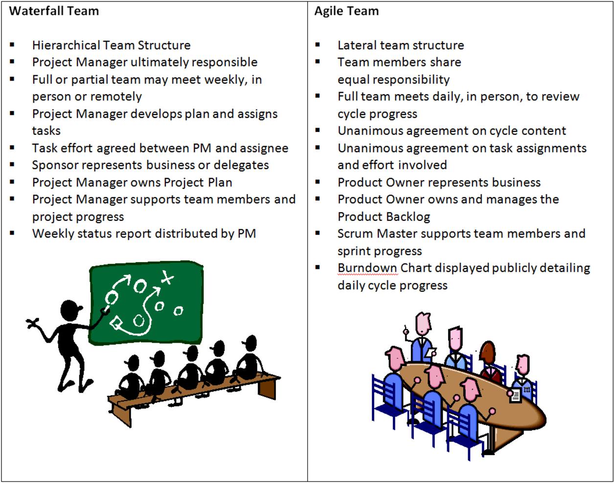 Agile Basics back to basics series: waterfall team vs. agile team | how