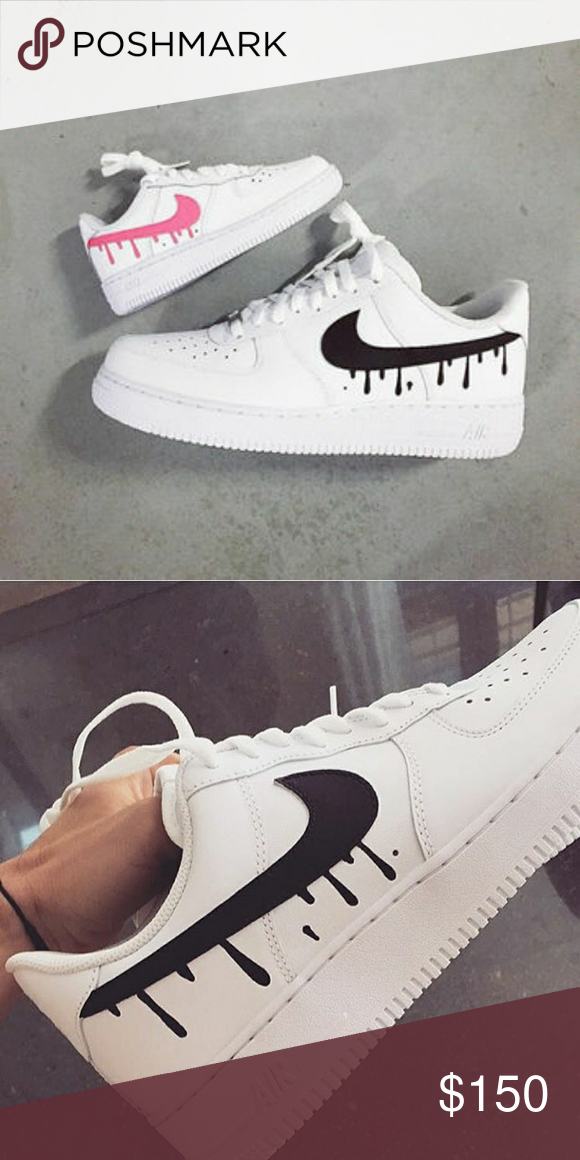 sports shoes 6b9a8 67b3d Custom Nike air force one Drippy custom nikr airforce 1 brand new with box Nike  Shoes Sneakers