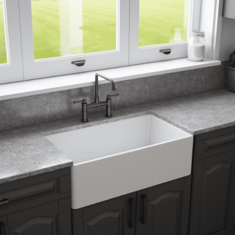 33 Stone Farmhouse Sink Single Bowl Curved Front Allstone Allstone Bowl Curved In 2020 Diy Dekoration Dekoration Holz