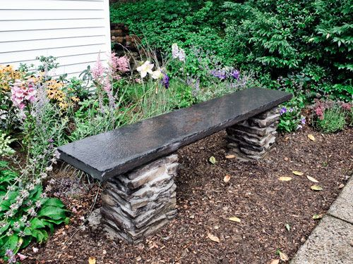Merveilleux How To Build A Stone Garden Bench. Want To Have This In My  Butterfly/hummingbird Garden.