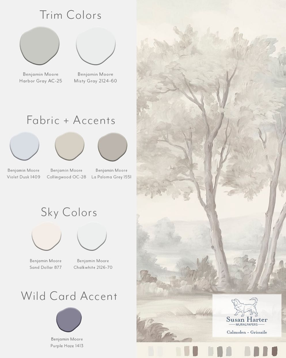 7 Likes 1 Comments Susan Harter Muralpapers Susanhartermuralpapers On Instagram The Muralpaper From Our Last Post Calm Grisaille Mural Wallpaper Mural