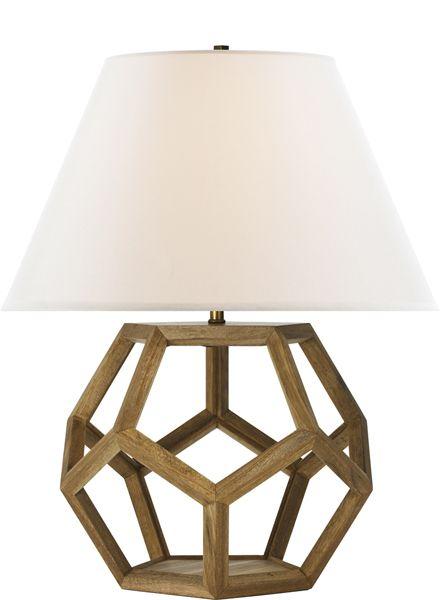 Ralph Lauren Wood Lamp Table Lamp Wood Lamp Geometric Lamp