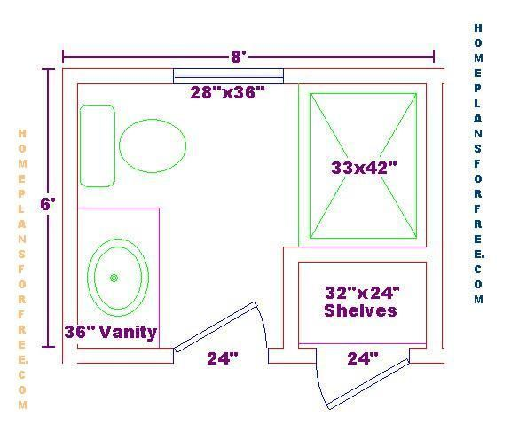 Pinterest bathroom floor plans bathroom design ideas6x8 for Small 3 4 bathroom floor plans