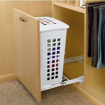 Closet Mounted Built In Laundry Hampers
