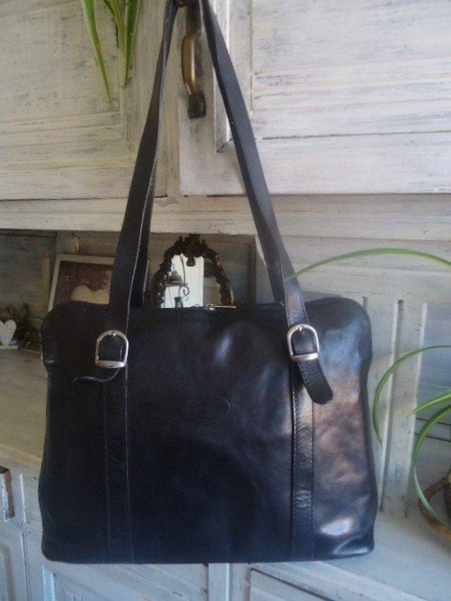 Grand Sac A Main Cuir Vintage Sac Cuir Italian Leather Handbag Sac Cartable Pour Etudiante De La Boutique Frenchtouchsochic Sur Sac A Main Cuir Sac Cartable Et Sac Cuir