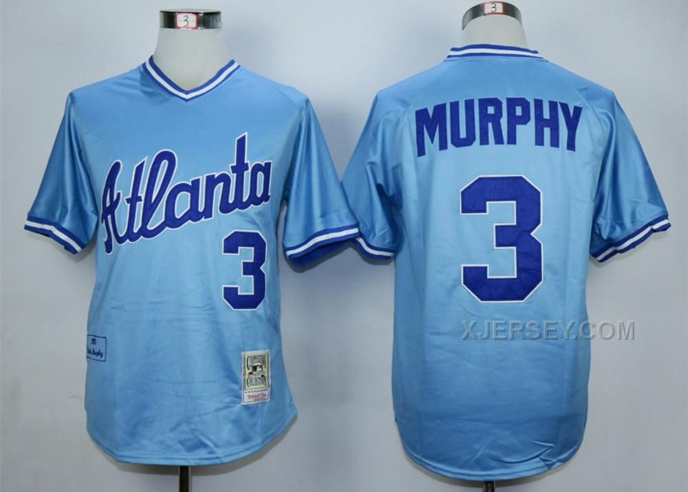 huge selection of 302a8 4fd52 mlb jerseys atlanta braves 3 dale murphy throwback lt blue ...