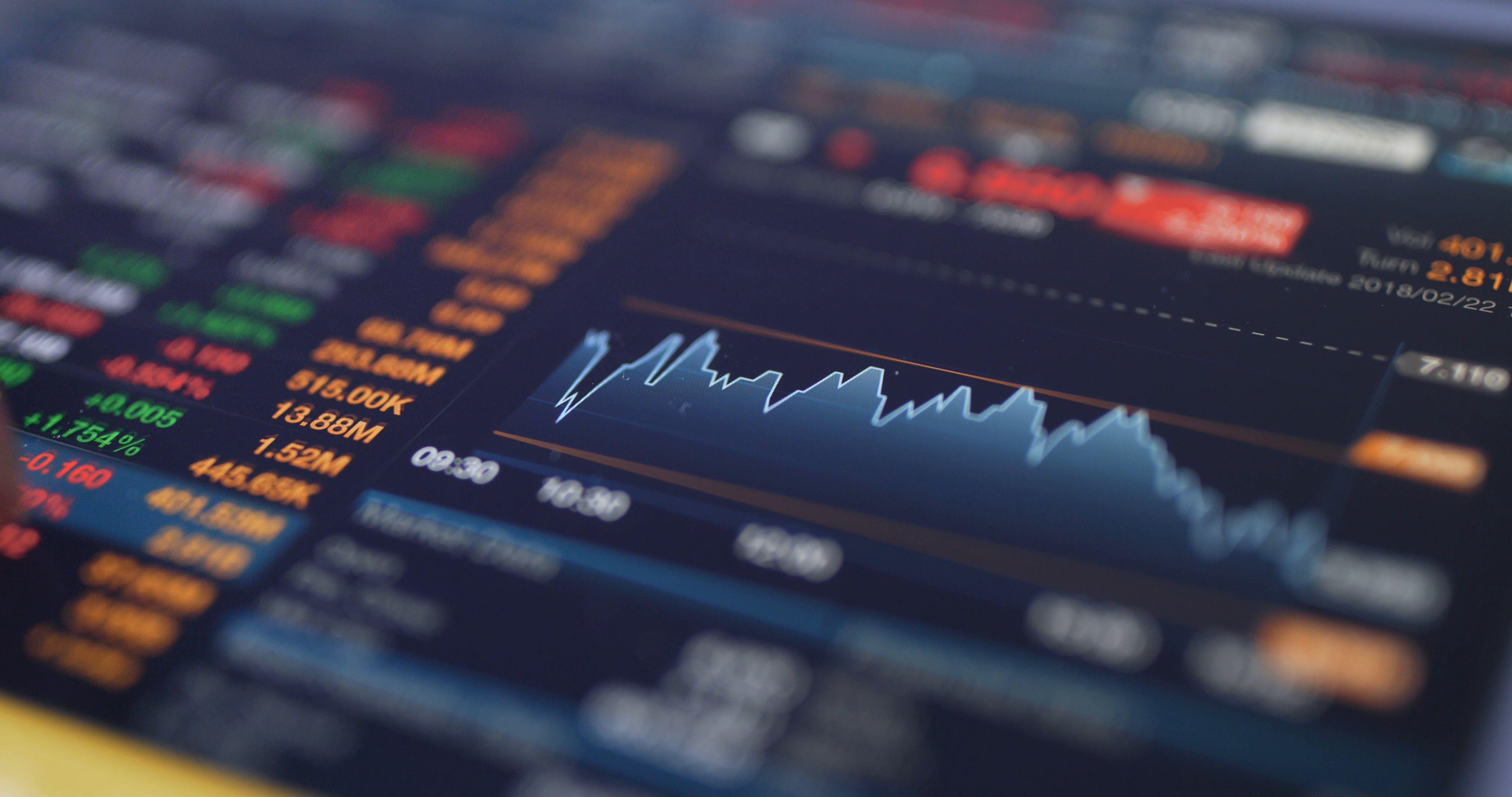 Digital Tablet Display The Stock Market Data Stock Footage Ad Display Stock Digital Tablet Stock Market Data Digital Tablet Marketing Data