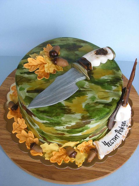 Hunter Knife Cake Just Cakes Birthday Cake Cake Camo Cakes