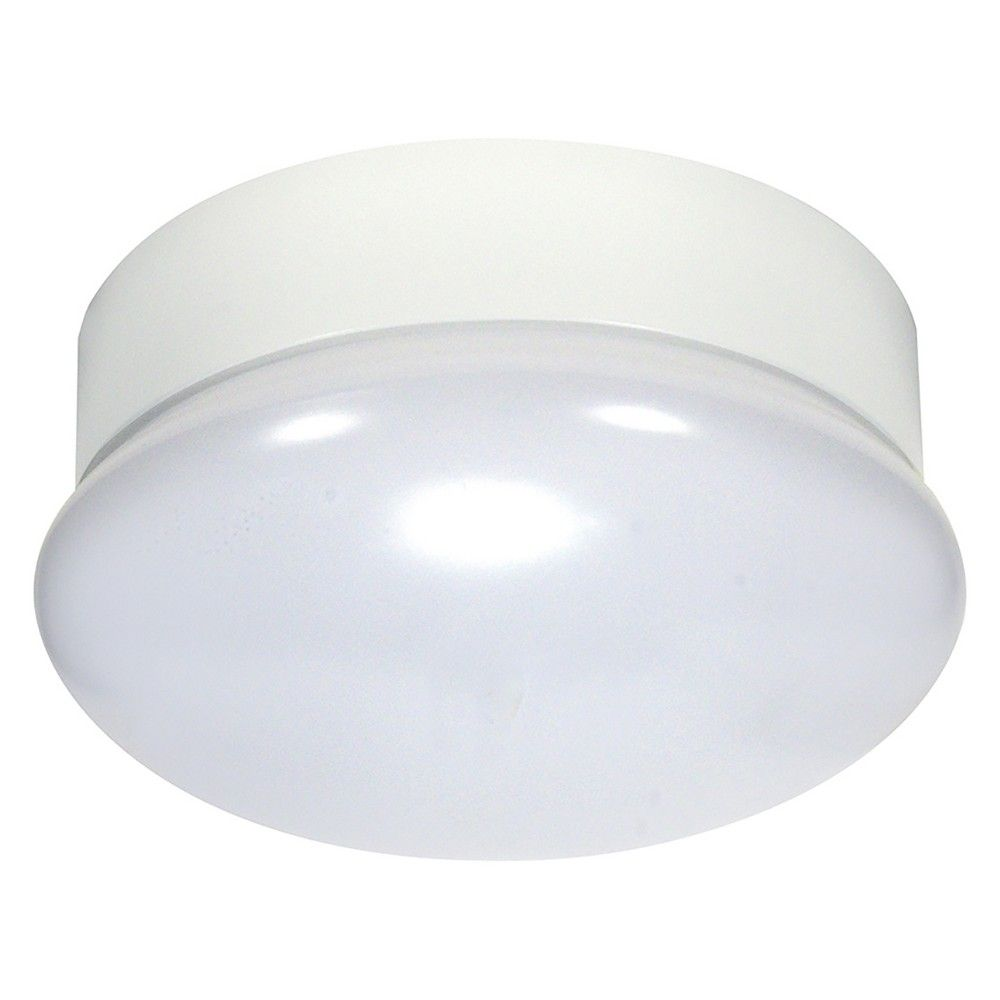 Aurora Lighting 1 Light Flush Mount Ceiling Lights White