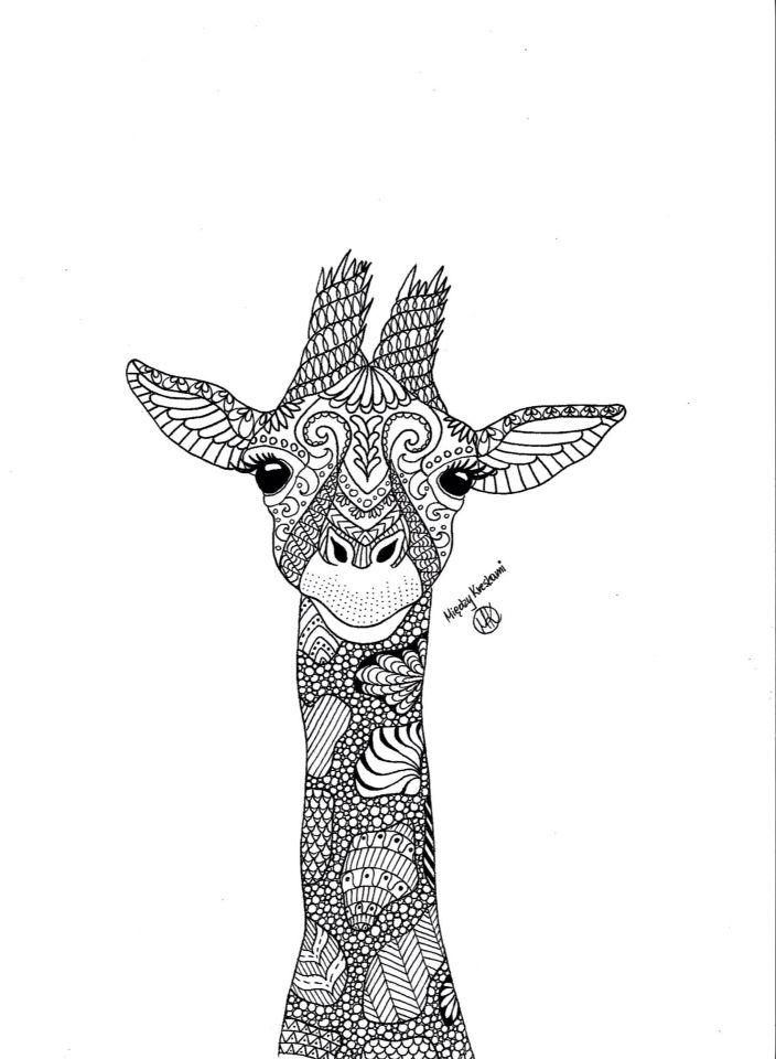 Giraffe zentangle on Behance
