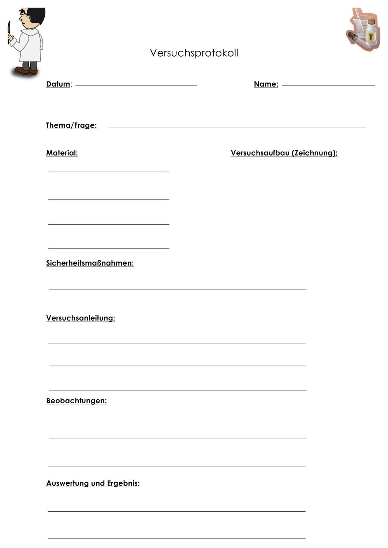 Versuchsprotokoll Vorlage Fur Jede Art Von Versuch Unterrichtsmaterial Im Fach Chemie In 2020 Vorlagen Unterrichtsmaterial Chemieunterricht