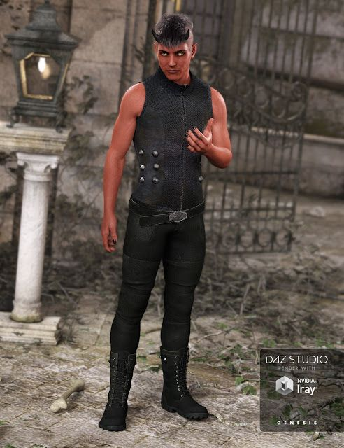 Download DAZ Studio 3 for FREE!: DAZ 3D - Bad Boy Outfit for