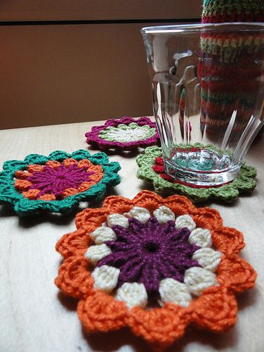 Flower Coasters - Free crochet pattern in Dutch and English by ...