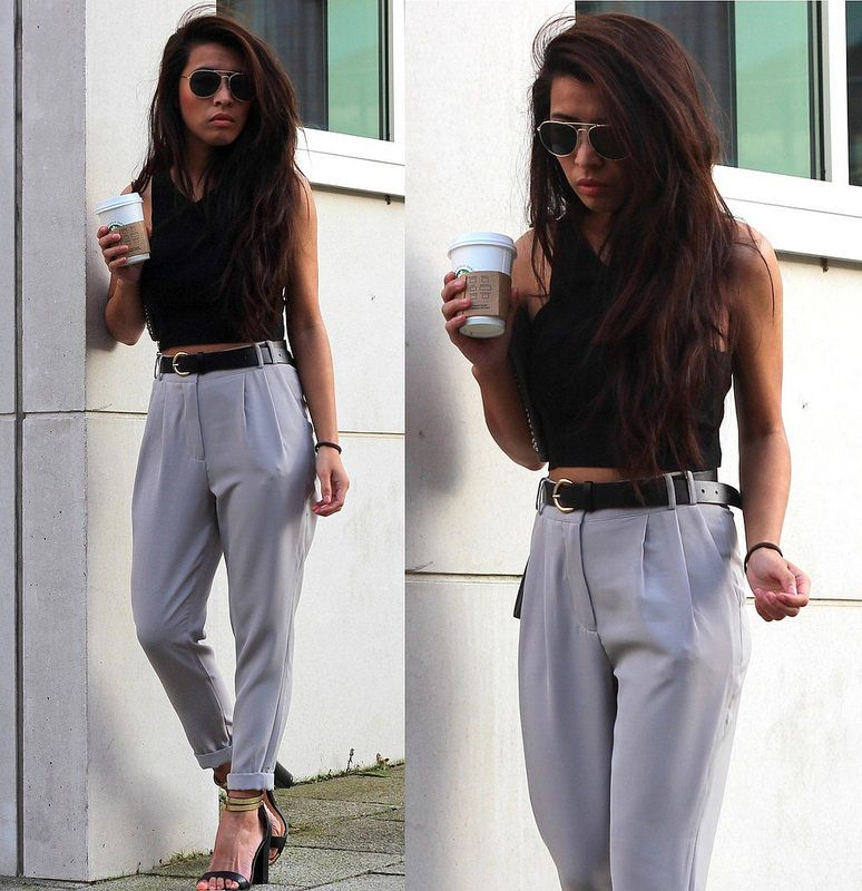b64ec40aea MISSGUIDED HIGH WAISTED GREY TROUSERS: ARTICLE 21 UK FASHION & STYLE BLOG  More