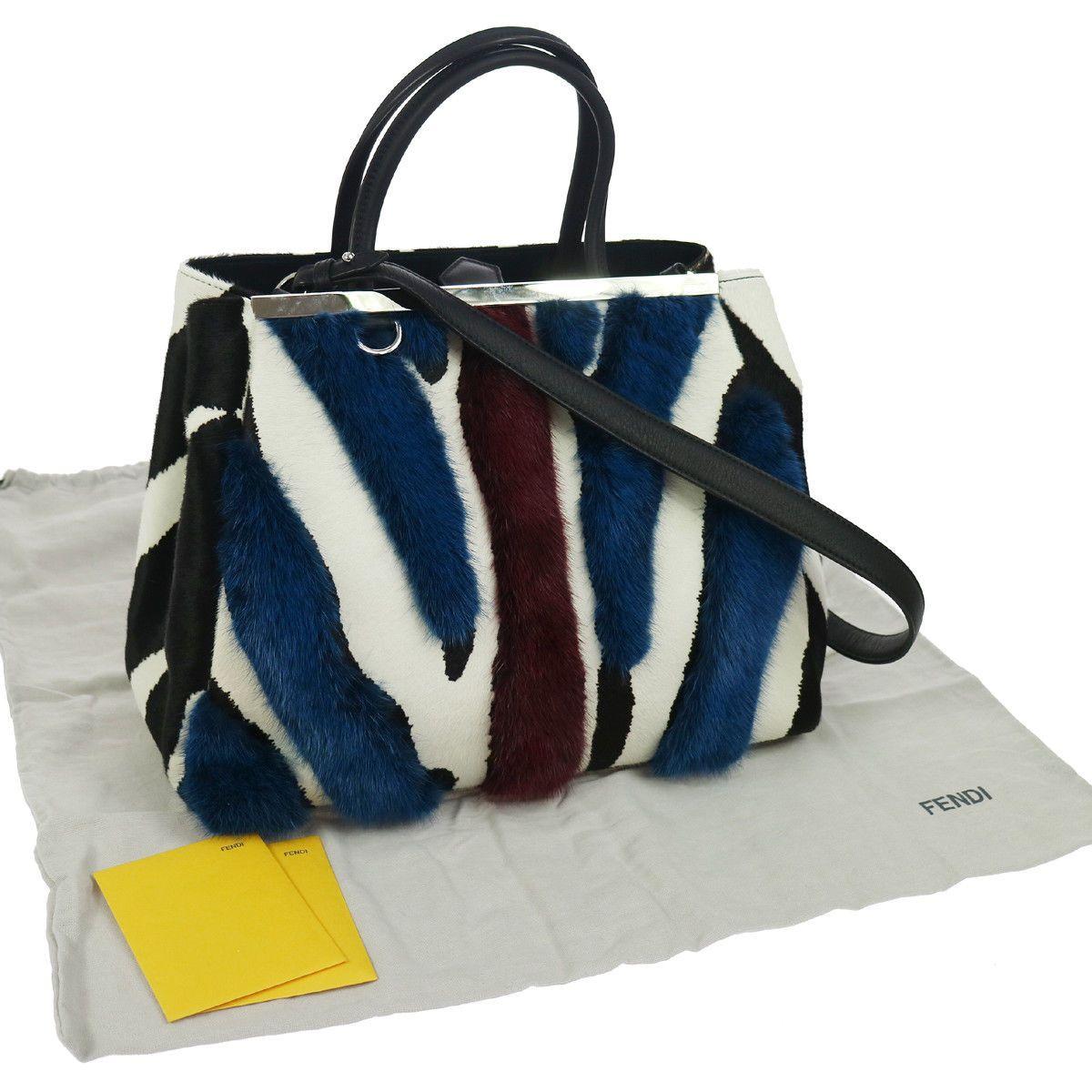 ... Authentic FENDI Shopping 2 Jours 2way Hand Bag Haircalf EXCELLENT  NR10824 official photos 8a3db ac2df  AUTHENTIC FENDI PEEKABOO MINI ... 3b191f50e5