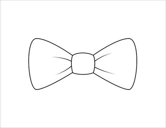 bow tie template pdf 9  Printable Bow Tie Templates – Free Word, PDF Format Download ...
