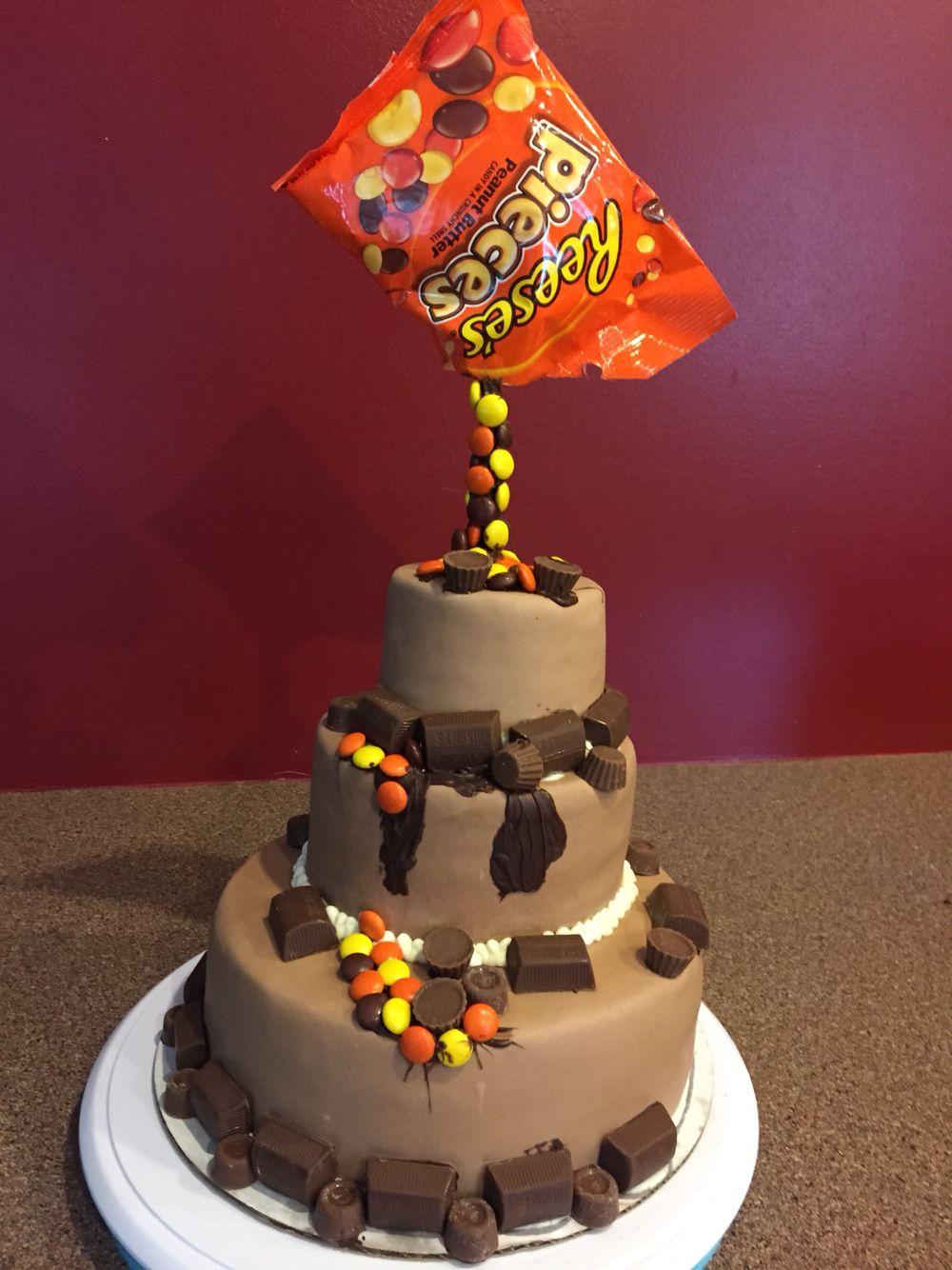 Gravity defying reese cake reeses cake cake desserts