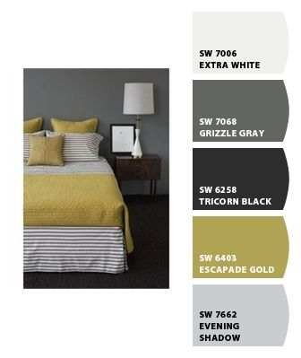 Muted Mustard and Gary Paint colors from Chip It! by Sherwin-Williams