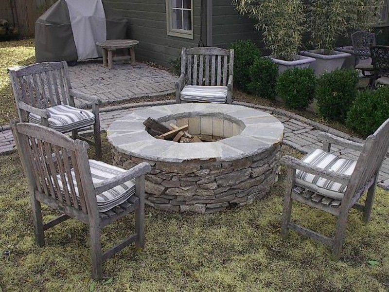 Flagstone Fire Pit Kit Concrete Fire Pits Outdoor Fire Pit Kits Backyard Fire
