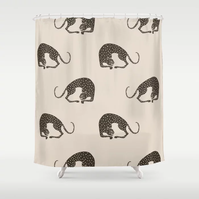 Buy Blockprint Cheetah Shower Curtain By Megangalante Worldwide