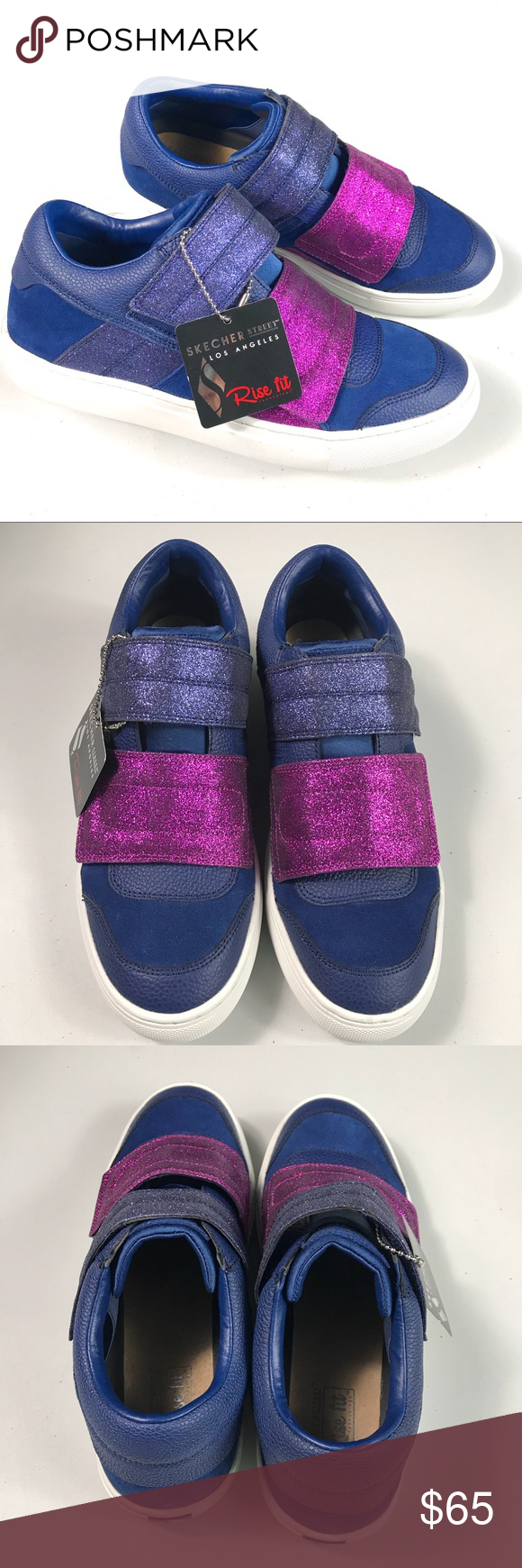 f2b0dfc73eee Skechers Blue/Pink Glitter Sneakers Size 8 NWT Skechers Women's Blue/Pink  Glitter Sneakers Size 8 Rise Fit LA Brand New with tag New with tag Glitter  effect ...