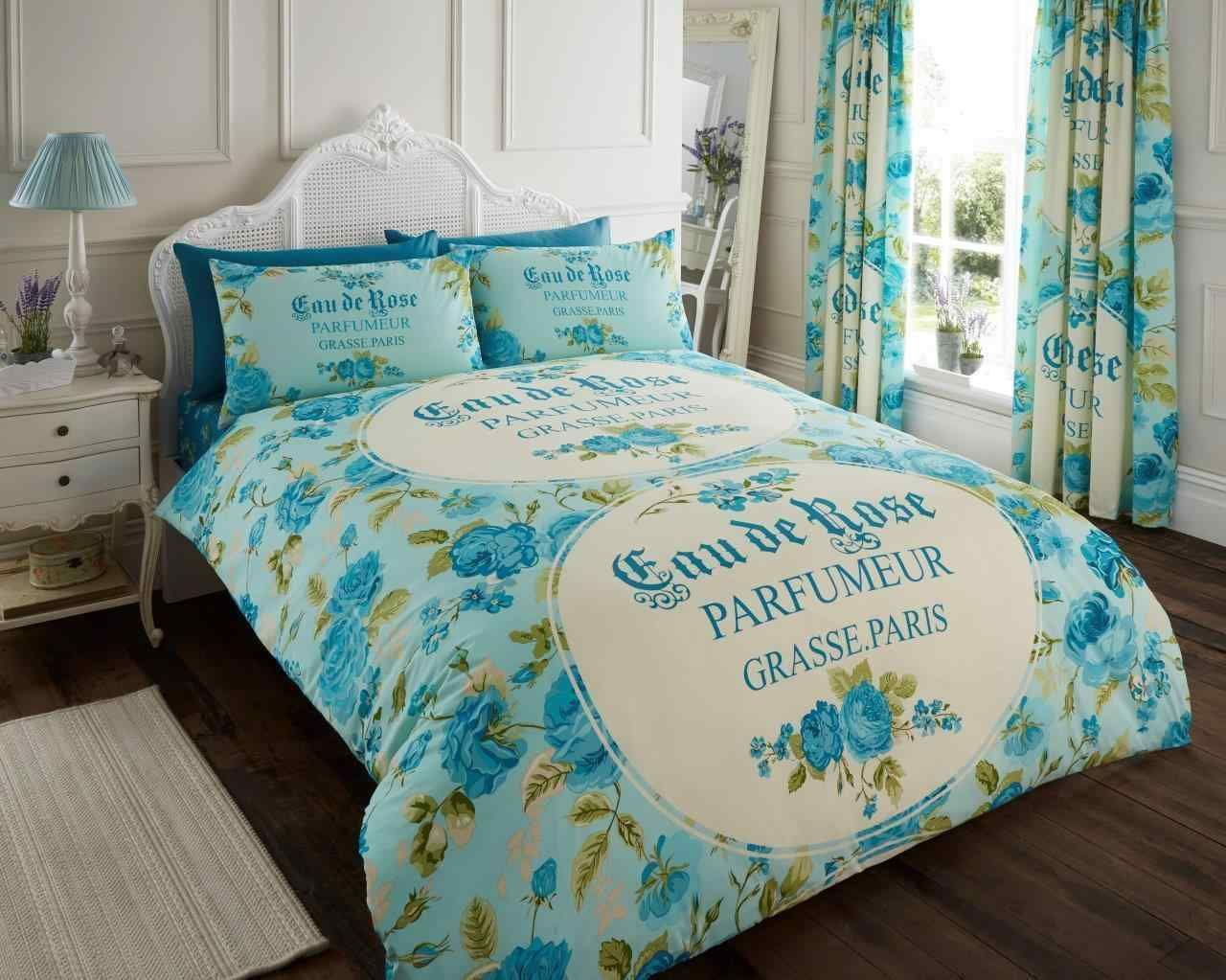 Iola Printed Duvet Quilt Cover Bedding Set Teal Linens Range Bed Linens Luxury Bed Linen Sets Duvet Bedding
