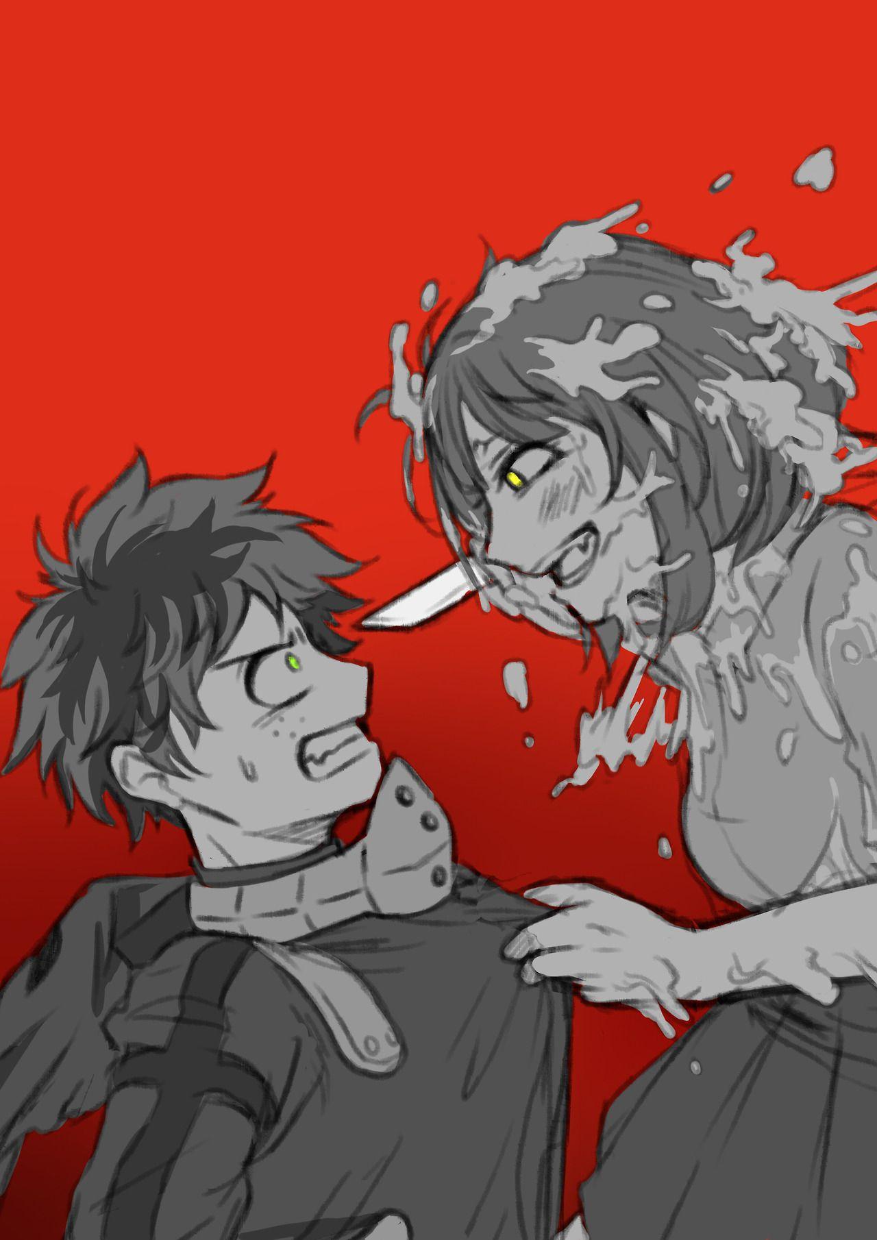 "You trick me… !"" Deku and Toga disguised as Uraraka  - - Kind of"